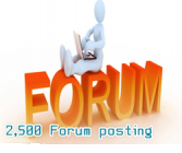 2500 forum posting backlinks