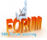 500 forum posting backlinks